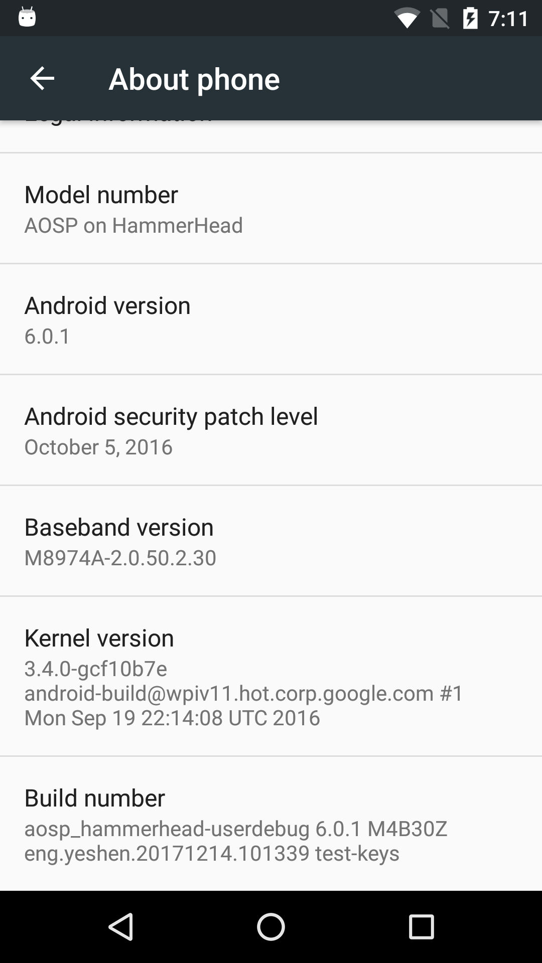 Building and Flashing AOSP for Device Nexus 5 hammerhead