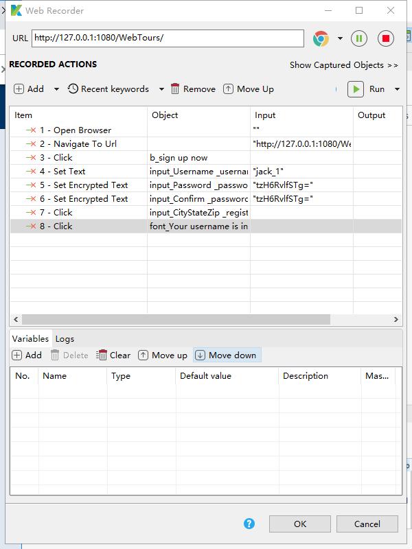 katalon installation, recording, executing simple Web scripts