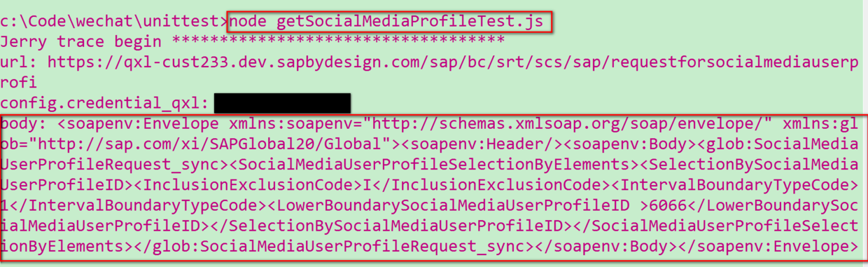 Consumption of Web service s on SAP Cloud for Customer using nodejs