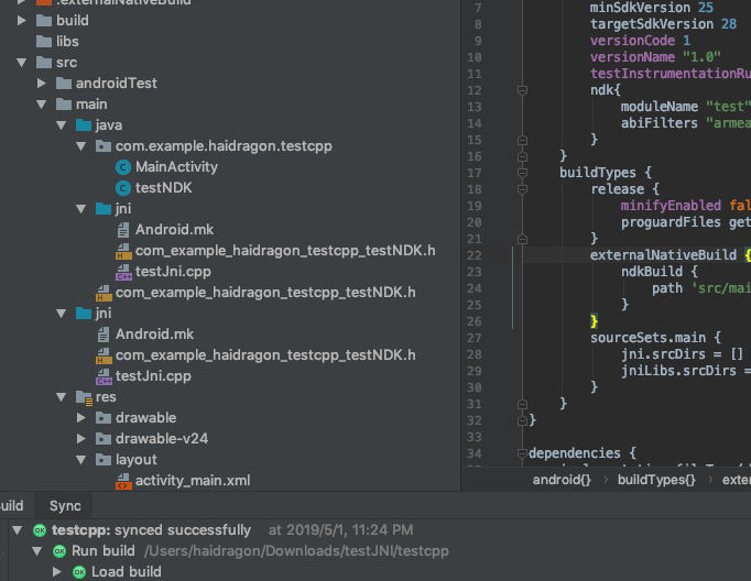 jni static registration pure gradle compilation of those things