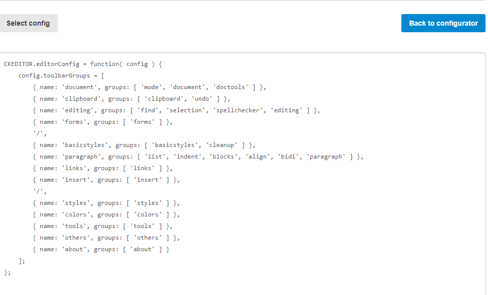asp net mvc configuration ckeditor4 x